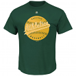 "Oakland Athletics Majestic MLB ""Electric Ball"" Short Sleeve Men's T-Shirt"