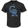 "Colorado Rockies Majestic MLB ""Official Logo"" Men's Short Sleeve T-Shirt"