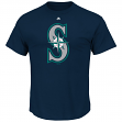 "Seattle Mariners Majestic MLB ""Official Logo"" Men's Short Sleeve T-Shirt"