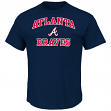 "Atlanta Braves Majestic MLB ""Heart & Soul"" Men's Short Sleeve T-Shirt"