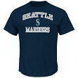 "Seattle Mariners Majestic MLB ""Heart & Soul"" Men's Short Sleeve T-Shirt"