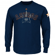 "Houston Astros Majestic MLB ""Pressing Issues"" Men's Long Sleeve T-Shirt"