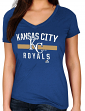 "Kansas City Royals Women's Majestic MLB ""One Game"" V-neck Fashion Shirt"