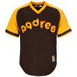 San Diego Padres Cooperstown Majestic Cool Base Retro Brown Jersey