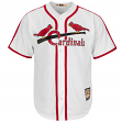 St. Louis Cardinals Cooperstown Majestic Cool Base Retro White Jersey