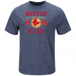 """Boston Red Sox Majestic MLB """"Heads Or Tails"""" Cooperstown Hyper Slub S/S Shirt"""