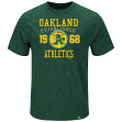 "Oakland Athletics Majestic MLB ""Heads Or Tails"" Cooperstown Hyper Slub S/S Shirt"