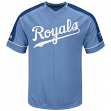 "Kansas City Royals Majestic MLB ""Tandem"" Cooperstown V-Neck Men's Fashion Jersey"