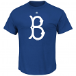 "Brooklyn Dodgers Majestic MLB ""Official Logo"" Cooperstown Men's S/S T-Shirt"