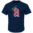 "California Angels Majestic MLB ""Official Logo"" Cooperstown Men's S/S T-Shirt"