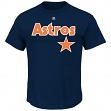 Craig Biggio Houston Astros MLB Majestic Cooperstown Player Navy T-Shirt