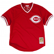 Barry Larkin Cincinnati Reds Mitchell & Ness Authentic 1990 BP Jersey