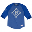 "Brooklyn Dodgers MLB Mitchell & Ness ""Top of the Inning"" Men's 3/4 Sleeve Shirt"
