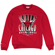 "Chicago Bulls Mitchell & Ness NBA ""Draft Choice"" Crew Sweatshirt - Red"