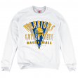 "Golden State Warriors Mitchell & Ness NBA ""Draft Choice"" Crew Sweatshirt - White"