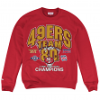 """San Francisco 49ers Mitchell & Ness """"Team of the 80s"""" Pullover Crew Sweatshirt"""
