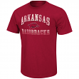 "Arkansas Razorbacks NCAA ""Contour"" Men's Short Sleeve Distressed T-Shirt"