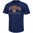 "Auburn Tigers NCAA ""Contour"" Men's Short Sleeve Distressed T-Shirt"