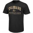 "Colorado Buffaloes NCAA ""Contour"" Men's Short Sleeve Distressed T-Shirt"