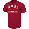 "Harvard Crimson NCAA ""Contour"" Men's Short Sleeve Distressed T-Shirt"