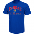 "Kansas Jayhawks NCAA ""Contour"" Men's Short Sleeve Distressed T-Shirt"