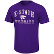 "Kansas State Wildcats NCAA ""Contour"" Men's Short Sleeve Distressed T-Shirt"
