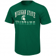 "Michigan State Spartans NCAA ""Contour"" Men's Short Sleeve Distressed T-Shirt"
