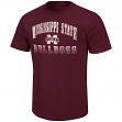 "Mississippi State Bulldogs NCAA ""Contour"" Men's Short Sleeve Distressed T-Shirt"
