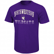 "Northwestern Wildcats NCAA ""Contour"" Men's Short Sleeve Distressed T-Shirt"