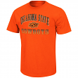 "Oklahoma State Cowboys NCAA ""Contour"" Men's Short Sleeve Distressed T-Shirt"