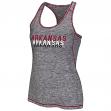 "Arkansas Razorbacks Women's NCAA ""Race Course"" Performance Racer Back Tank Top"