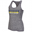 """Michigan Wolverines Women's NCAA """"Race Course"""" Performance Racer Back Tank Top"""