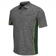 "Oregon Ducks NCAA ""Back Rush"" Men's Performance Polo Shirt - Charcoal"