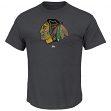 "Chicago Blackhawks Majestic NHL ""Raise the Level"" Men's Heathered S/S T-Shirt"