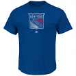 "New York Rangers Majestic NHL ""Raise the Level"" Men's Heathered S/S T-Shirt"