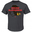 "Chicago Blackhawks Majestic NHL ""Wrist Shot"" Men's Heathered Short Sleeve Shirt"