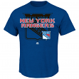 "New York Rangers Majestic NHL ""Wrist Shot"" Men's Heathered Short Sleeve T-Shirt"