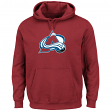 Colorado Avalanche Majestic Men's Felt Tek Patch Garnet Hooded Sweatshirt