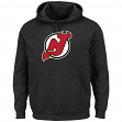 New Jersey Devils Majestic Men's Felt Tek Patch Black Hooded Sweatshirt