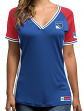 "New York Rangers Women's Majestic NHL ""League Diva"" V-neck Fashion Shirt"