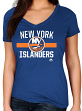 "New York Islanders Women's Majestic NHL ""One Game"" V-neck T-Shirt"