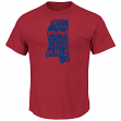 Mississippi Ole Miss Rebels Majestic NCAA Far Beyond Short Sleeve Men's T-Shirt
