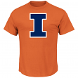 Illinois Fighting Illini Majestic NCAA Football Icon Men's S/S T-Shirt - Orange