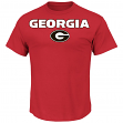 "Georgia Bulldogs Majestic NCAA ""Workmark & Logo"" Men's S/S T-Shirt"