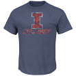 "Illinois Fighting Illini NCAA Majestic ""Always Admired"" Weathered Navy T-Shirt"