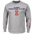 Illinois Fighting Illini NCAA Majestic Plan of Attack Men's Long Sleeve T-Shirt