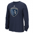 "Sporting Kansas City Adidas MLS ""High End Patch"" Men's Long Sleeve T-Shirt"