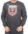"DC United Adidas MLS ""Logo Set"" Men's Long Sleeve T-Shirt"