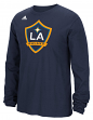 "Los Angeles Galaxy Adidas MLS ""Logo Set"" Men's Long Sleeve T-Shirt"