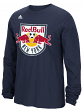 "New York Red Bulls Adidas MLS ""Logo Set"" Men's Long Sleeve T-Shirt"